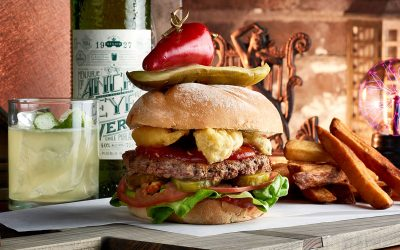 Burger vegan « Impossible Burger », proposé à The Edison à Disney Springs