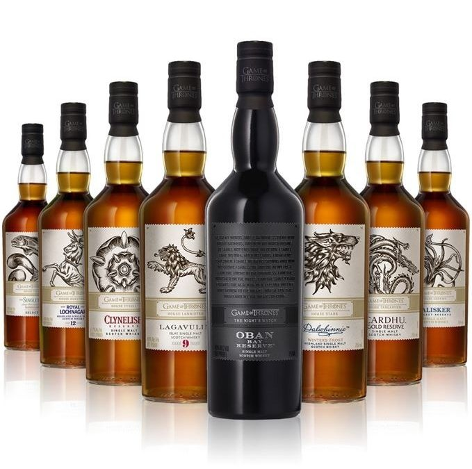 Game of Thrones La collection de whisky / 8 x 0,7l | Scotch Whisky  Whisky Single Malt  Whisky des Hautes Terres