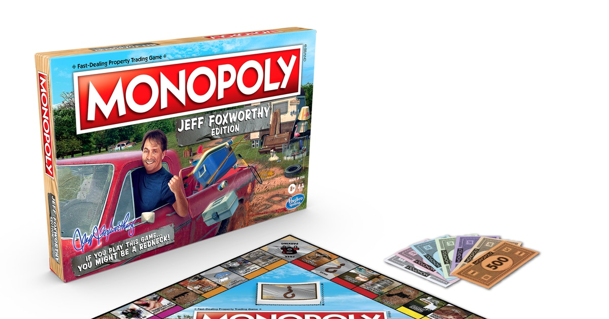 First Look — Jeff Foxworthy Monopoly Is Here, Because You Might Be A Redneck
