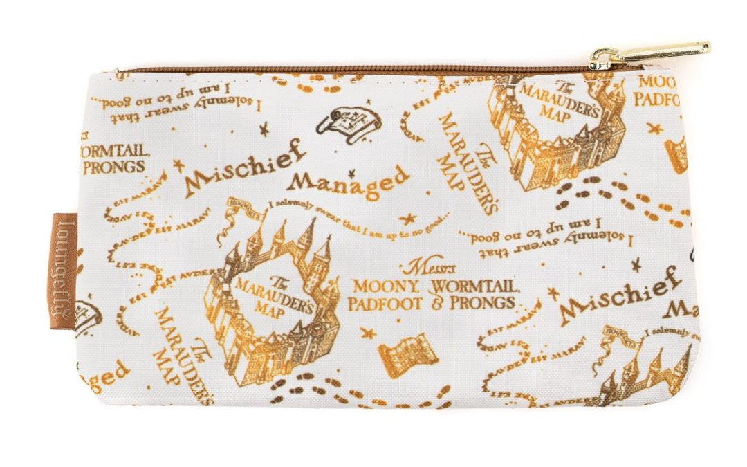 Loungefly X Harry Potter Marauders Map AOP Nylon Pouch – Loungefly.com