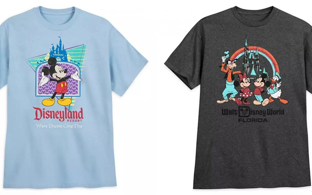 SHOP: Flash Back Through the Decades with New Retro-Inspired Disneyland Resort and Walt Disney World T-Shirts on shopDisney