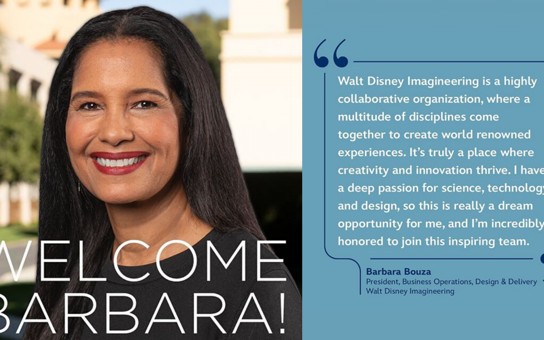Walt Disney Imagineering Names Barbara Bouza President of Business Operations, Design & Delivery
