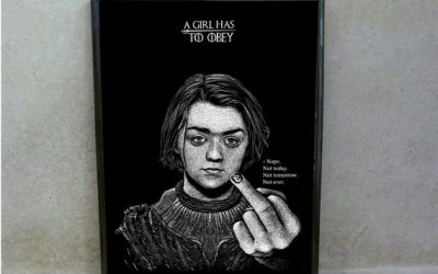 Game Of Thrones POSTER ARYA STARK Portrait by Will Argunas