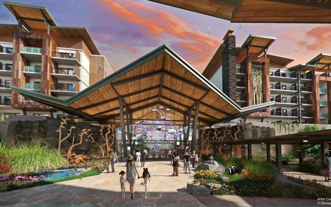 Disney supprime les reflets – Un Disney Lakeside Lodge de la publication d'annonce de l'Expo D23