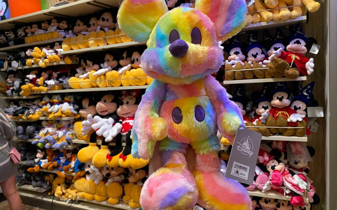 PHOTOS: New Pastel Rainbow Mickey Mouse Plush Adds a Pop of Color to World of Disney at Disneyland Resort